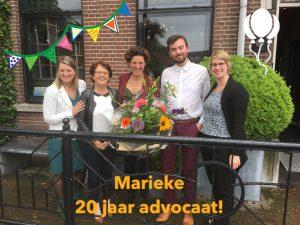 Marieke 20 jaar advocaat